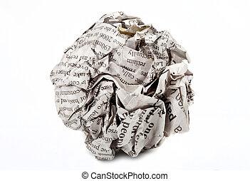 geschraubt, papier, auf