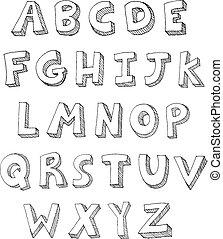 geschrieben, briefe, hand
