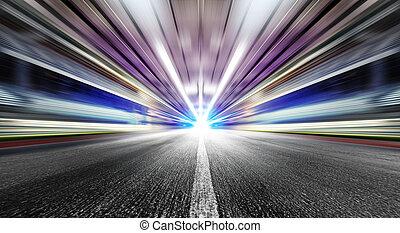 geschwindigkeit, in, städtisch, tunnel