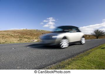 geschwindigkeitsüberschreitung, silber, auto
