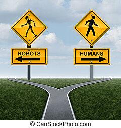 gesellschaft, begriff, roboter