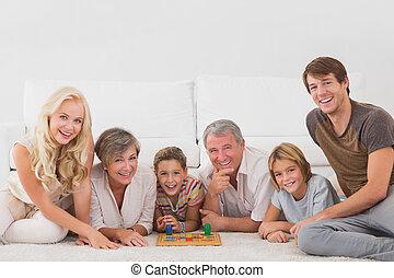 gesellschaftsspiele, schauen, fotoapperat, familie