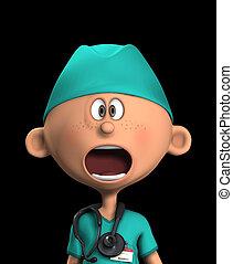 geshockeerde, chirurg