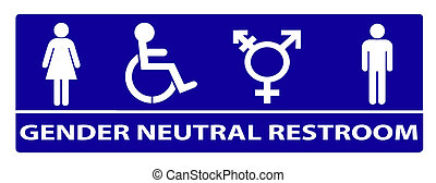 geslacht, neutraal, badkamer, meldingsbord