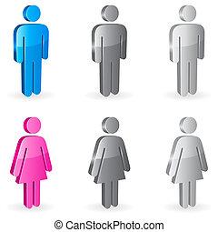 geslacht, symbols.