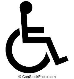 geslacht, symbool., toilet, symbool, in, unicode., invalide, drempelvrij, facilities., vector, format.
