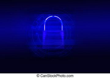 gesloten, -, blauwe , beschermen, misdaad, data, hangslot, systemen, achtergrond, anoniem, veiligheid, donker, computer, concept, computerkraker, cyber, technologie