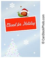 gesloten, feestdagen