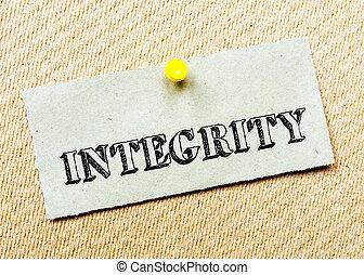 gespeld, concept, gerecyclde, beeld, kurk, aantekening, message., papier, board., integriteit