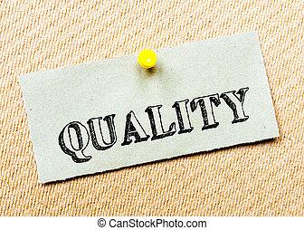 gespeld, concept, gerecyclde, beeld, kurk, aantekening, message., papier, board., kwaliteit