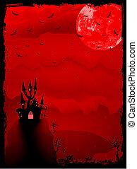 gespenstisch, halloween, eps, horror., 8, zusammensetzung