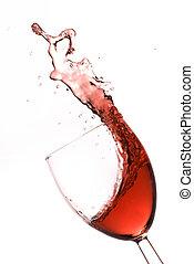 gespetter, rode wijn
