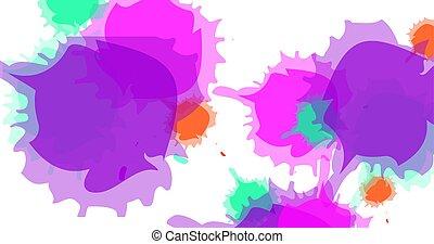 gespetter, textuur, eps, vector, watercolor, tien, achtergrond