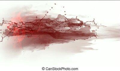 gespetter, vloeistof, &, rood, plasma.