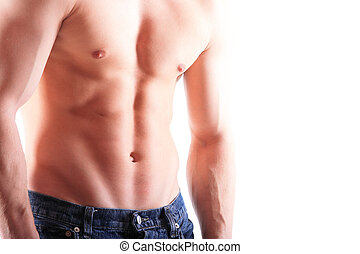 gespierd, mannelijke , torso