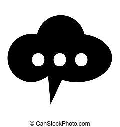 gesprek, bel, wolk