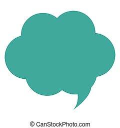 gesprek, bel, wolk, pictogram
