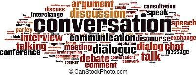 gesprek, woord, wolk