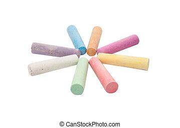 gessi, organizzato, colori, varietà
