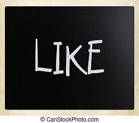 """gesso, """"like"""", bianco, scritto mano, lavagna"""