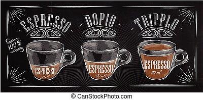 gesso, manifesto, espresso