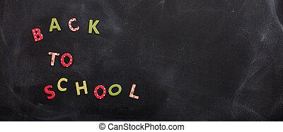 gesso, testo, scuola, asse posteriore