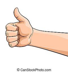 geste main