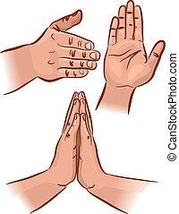 geste, main
