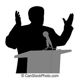 geste, ouvert, prise parole public, mains