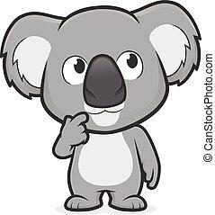 geste, pensée, koala