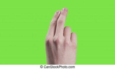 gestes, écran, main, jeune, vert, toucher, homme, 12