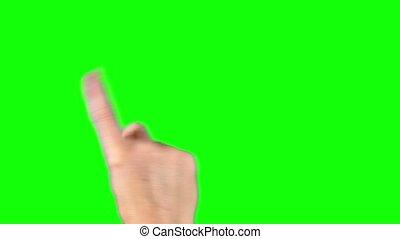 gestes, écran, toucher, toucher