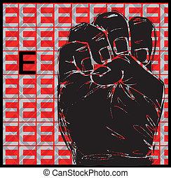 gesti, lingua segno, mano