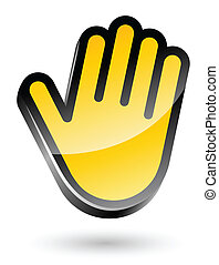 gesticulate hand stop sign