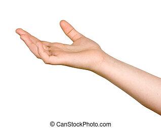 gesticule, mão