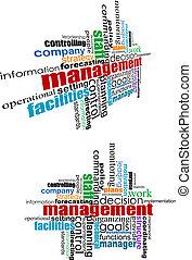 gestion, étiquettes, nuage