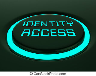 gestion, accès, rendre, empreinte doigt, entrée, identité, 3d