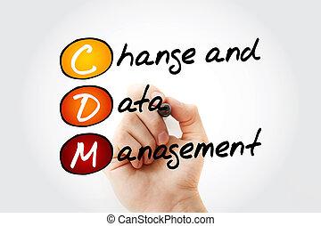 gestion, acronyme, cdm, -, données, changement