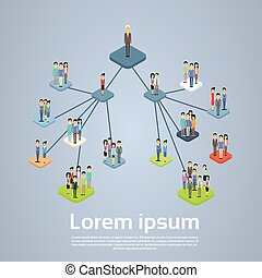 gestion, business, compagnie, diagramme, organisation, structure