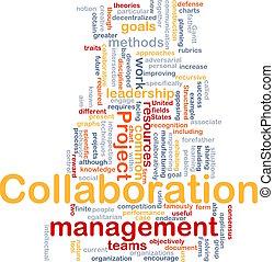 gestion, collaboration, concept, fond