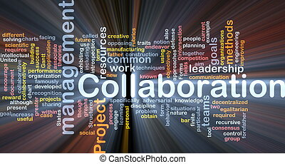 gestion, collaboration, concept, incandescent, fond