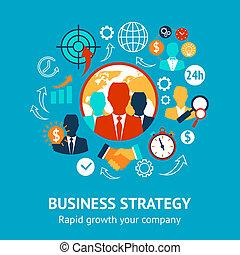 gestion, concept, affaires modernes