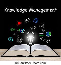 gestion, concept, connaissance