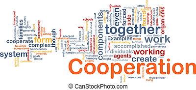 gestion, concept, coopération, fond