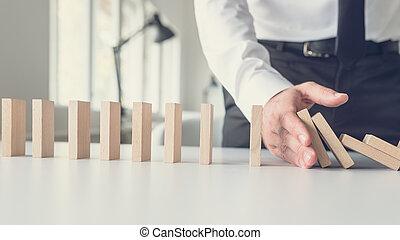 gestion, concept, crise, business