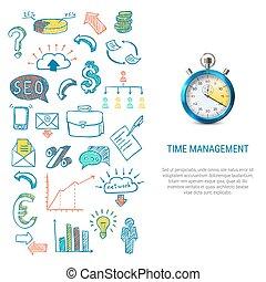 gestion, concept, temps