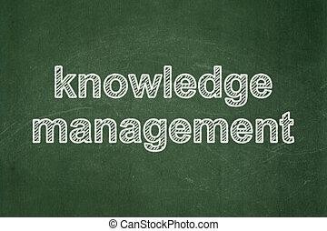 gestion, connaissance, étudier, tableau, fond, concept: