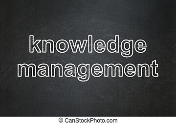 gestion, connaissance, tableau, fond, education, concept:
