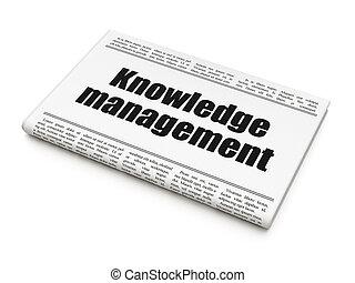 gestion, connaissance, titre, apprentissage, journal, concept: