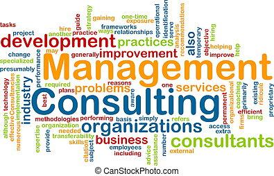 gestion, consultant, mot, nuage